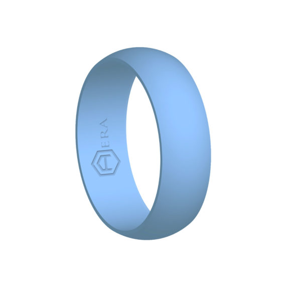 Mens Baby Blue Silicone Ring PT