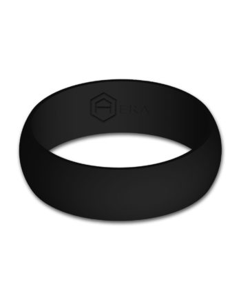Mens Black Silicone Ring
