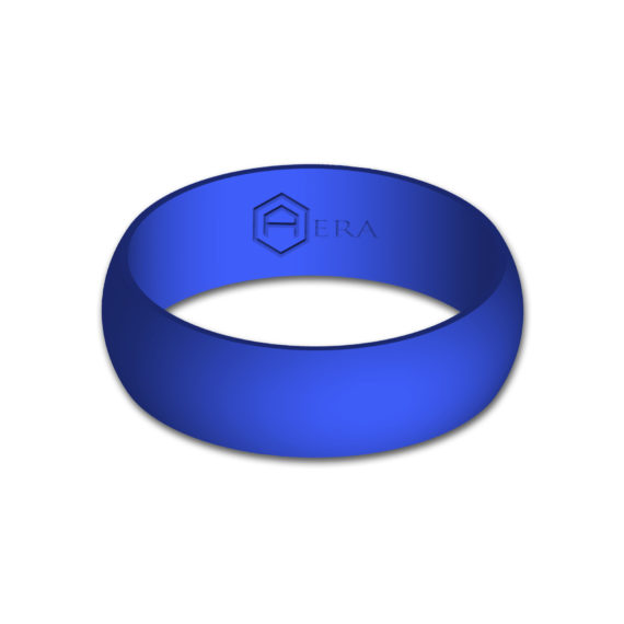 Mens Blue Silicone Ring