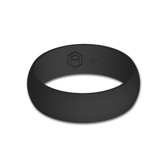 Mens Charcoal Silicone Ring