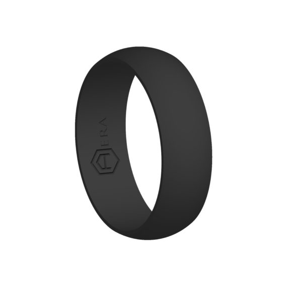 Mens Charcoal Silicone Ring PT