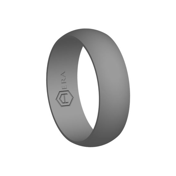 Mens Gray Silicone Ring PT