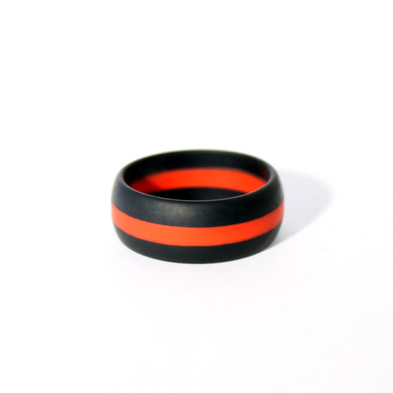 Firefighter silicone wedding ring