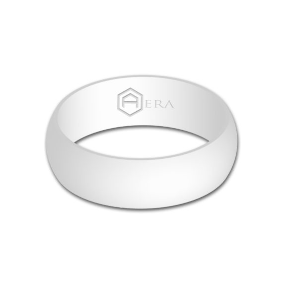 Mens White Silicone Ring