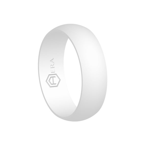 Mens White Silicone Ring PT