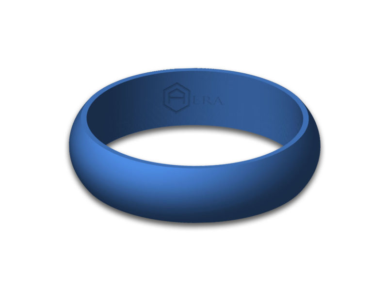 Womens Blue Silicone Ring