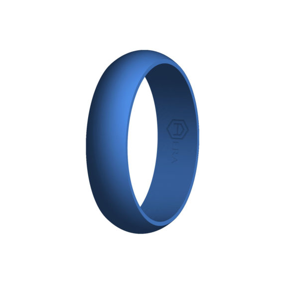 Womens Blue Silicone Ring PT