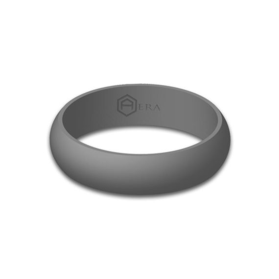 Womens Gray Silicone Ring
