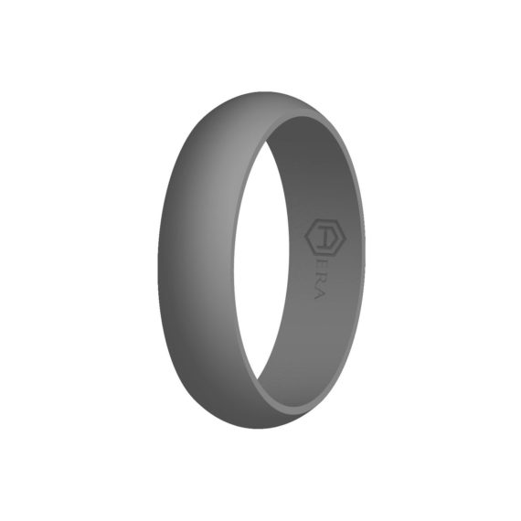 Womens Gray Silicone Ring PT
