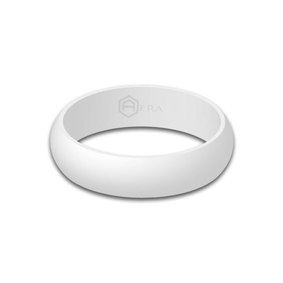 Womens White Silicone Ring