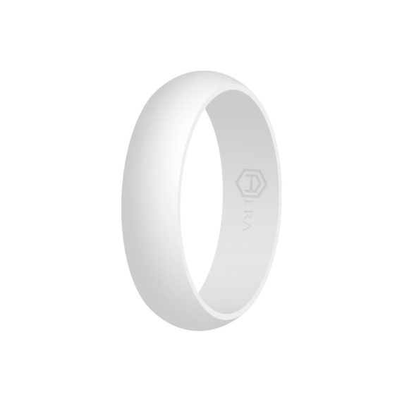 Womens White Silicone Ring PT